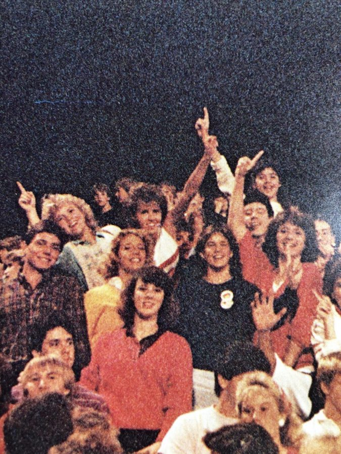 Denise and friends at the Homecoming football game  Photo CHS Cohiscan